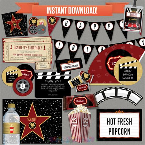 hollywood theme ringtone download free movie party decorations movie ticket invitation movie