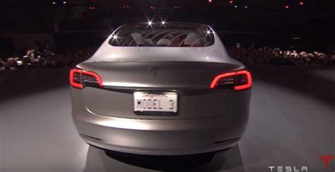 tesla model 3 back tesla model 3 unveiled today despite cost cuts still