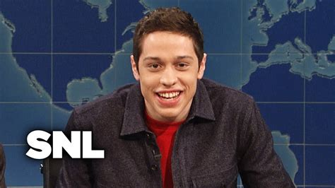 pete davidson update snl weekend update pete davidson on std prevention snl