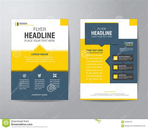 brochure flyer templates business brochure flyer design layout template in a4 size