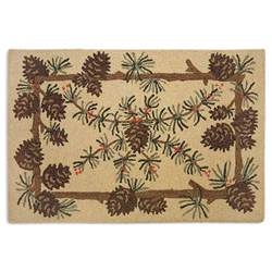 Pinecone Rugs by Pinecone Hooked Braided Accent Rug Cabin Place