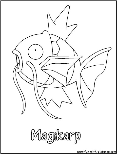 pokemon coloring pages magikarp magikarp coloring page