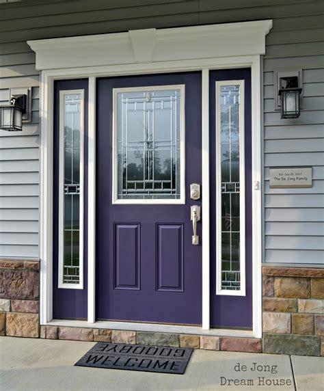 purple front door de jong dream house our purple door
