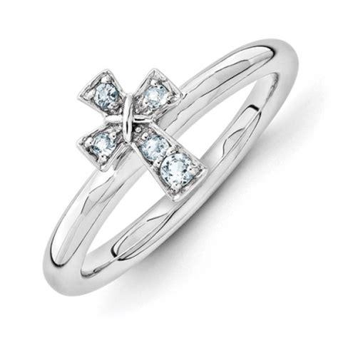 birthstone cross purity ring cornerstone jewelry