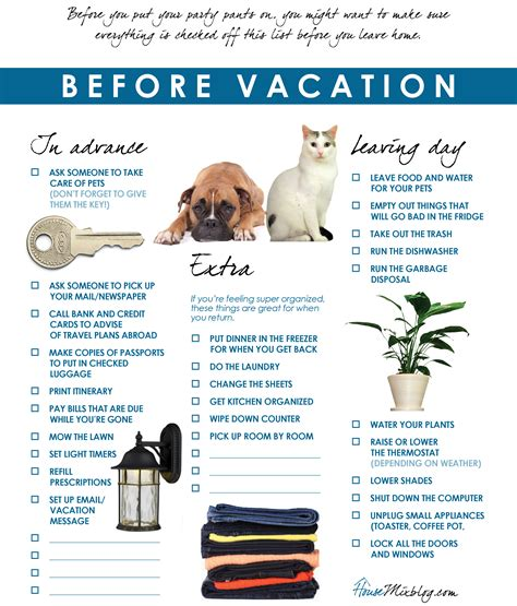 vacation checklist travel part 1 before vacation checklist house mix