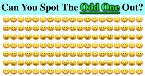 the odd one out only 1 in every 2 000 people can pass this test can you find odd one out in 90 seconds