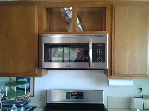 install over the range microwave without cabinet raised upper cabinet 7 inches to accommodate over the