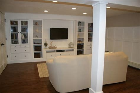 Ikea Basement Ideas Basement Renovation Traditional Basement Boston By
