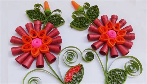 new year paper flower quilling happy new year in 2016 greeting cards