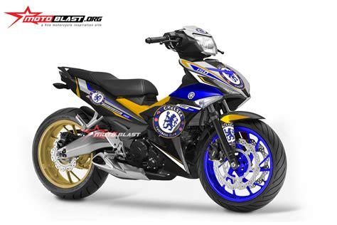 Modif Yamaha Mx King by Modifikasi Yamaha Mx King 150 Black Chelsea Fc