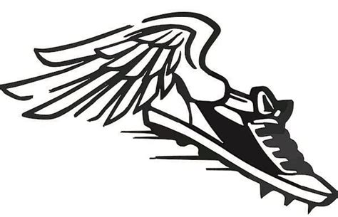 running shoes with wings clipart flying shoe logo clipart best