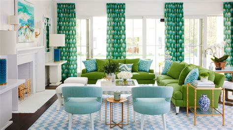 Green And White Living Room by Our Favorite Green Rooms Coastal Living