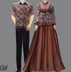 model gamis cantik baju gamis batik sarimbit coklat fashion pakaian wanita pakaian hijab
