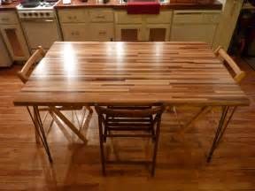 butcher block table ikea home christmas decoration