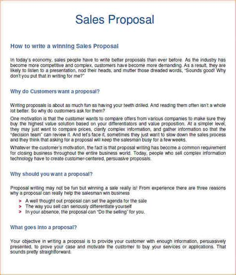Sales proposal example   Business Proposal Templated