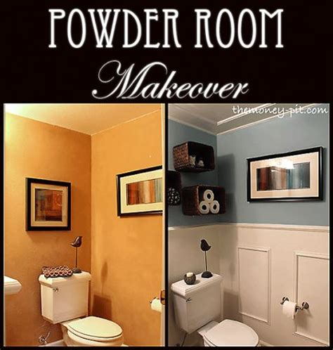 easy bathroom makeover powder room makeover flashback friday powder room room