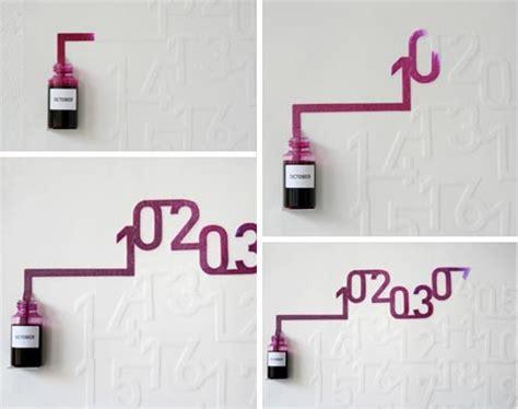 Calendã Capilar Ink Capillary Dynamic Wall Calendar Design