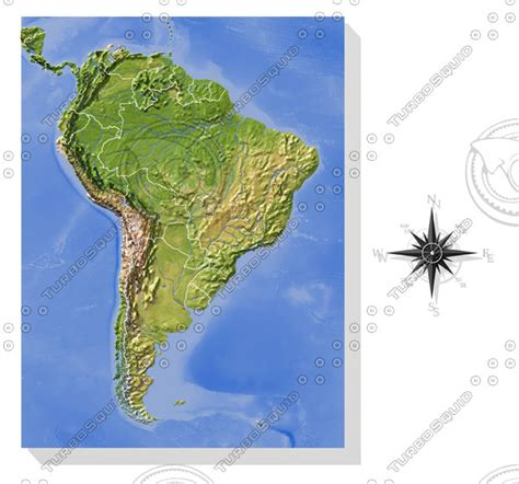 america map high resolution relief south america 3d max