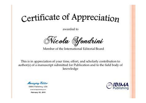 Pattern Recognition Letters Editorial Board | ibima certificate of appreciation