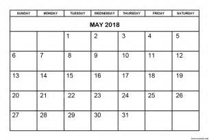 Calendar 2018 May May 2018 Calendar Design Blank Free Calendar