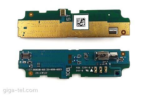 Board Microphone Mic Vibrate Sony Xperia E3 D2203 D2212 sony d2203 board lte vibra microphone a 8cs 59080 0001