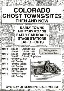 colorado ghost town map ghost town maps of the west