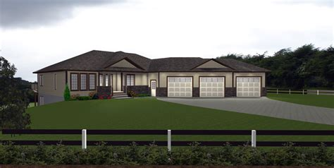 3 car garage on house plans by e designs 1