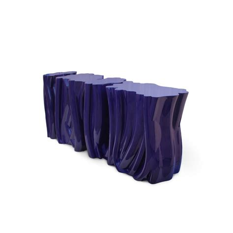 luxury purple blue fiberglass console table