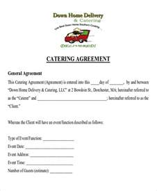 Sle Catering Contract Template by Sle Catering Contract Agreements 8 Exles In Word Pdf