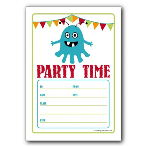 Word Templates For Birthday Invitations | free birthday party invitation templates for word
