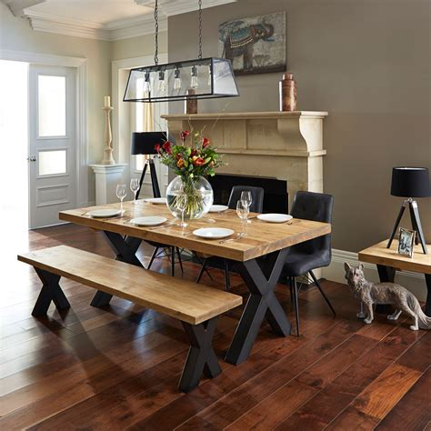 dining tables with bench and chairs ragana reclaimed timber dining table with bench and 3