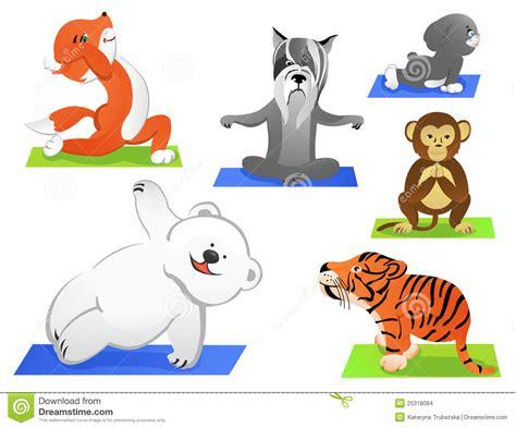Animals Yoga Stock Vector Illustration Of Monkey Pets