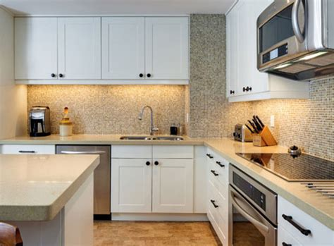 Kitchen modern small kithcen with l shaped design wooden floor