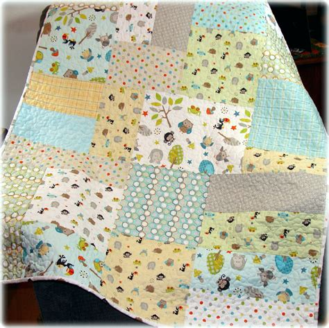 Baby Boy Quilt Fabric by Baby Boy Quilt In The Jungle Fabrics Modern Big Block