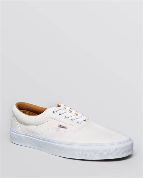 Vans Authentic Grey Pink Icc Premium vans era premium leather lace up sneakers in white for lyst