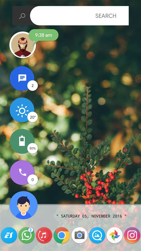 10 beautiful custom android home screen layouts 7