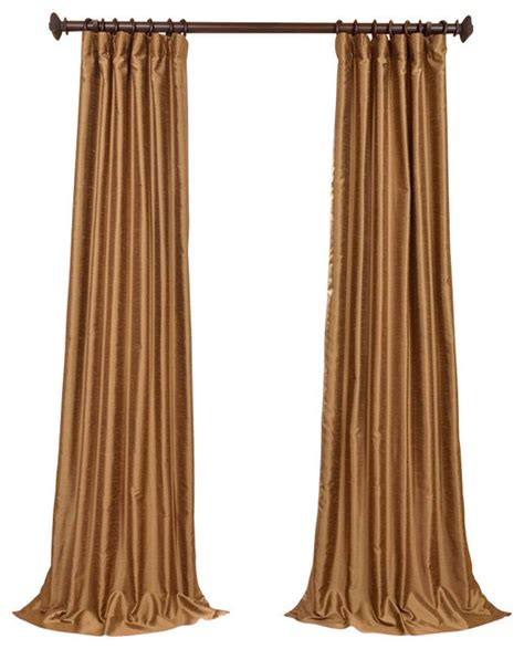 gold faux silk curtains empire gold yarn dyed faux dupioni silk curtain single