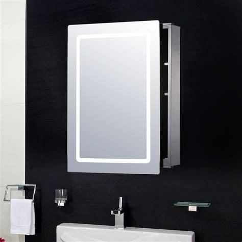 armadietto pensile homcom armadietto pensile da bagno con specchio e luce led