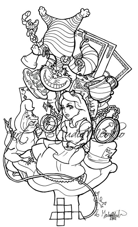 tattoo flash layout alice im wunderland google suche fiona
