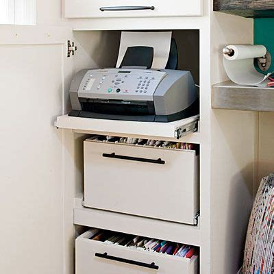 hidden printer cabinet top 25 ideas about printer storage on pinterest desktop