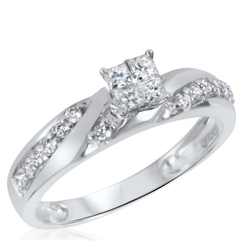 1 ct t w engagement ring wedding band