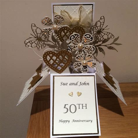 50th Anniversary Card   3D POPUP CARD BOXES   50th