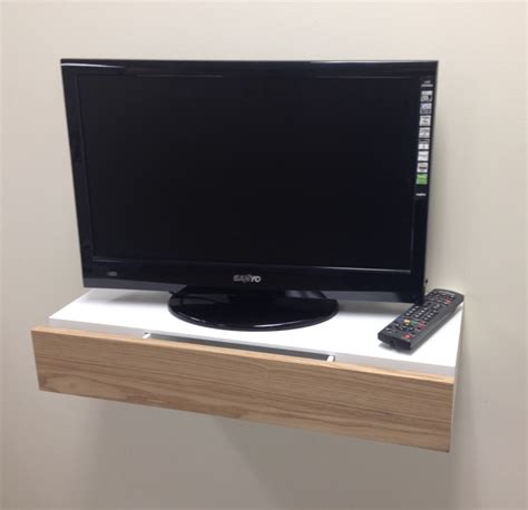 Tv On Floating Shelf by Small And Simple Floating Tv Stand With Drawer For Small