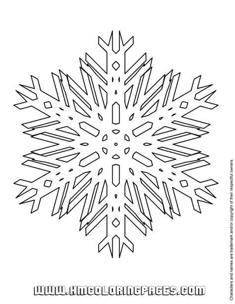 snowflake pattern to color snowflake pattern coloring pages