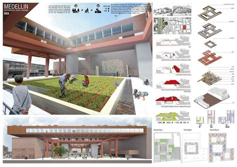 newton s architecture portfolio housing project projects presented to the medellin experimental social