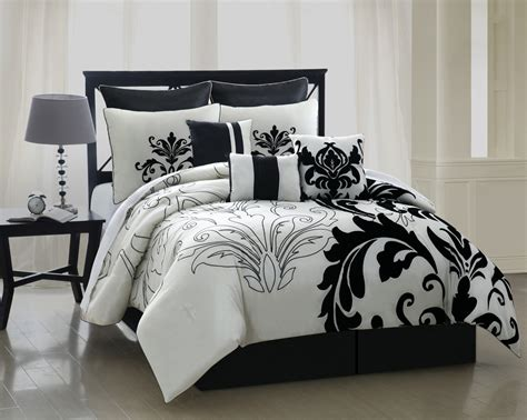 Black And White Queen Bed Sets » Home Design 2017