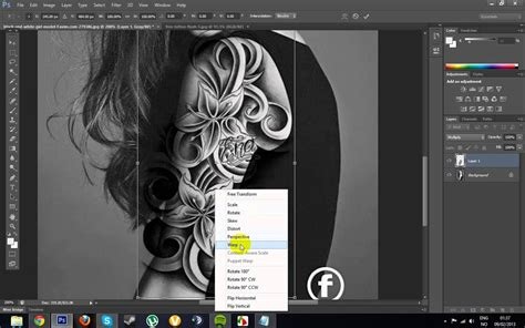 tattoo photoshop how to make a realistic in photoshop cs6