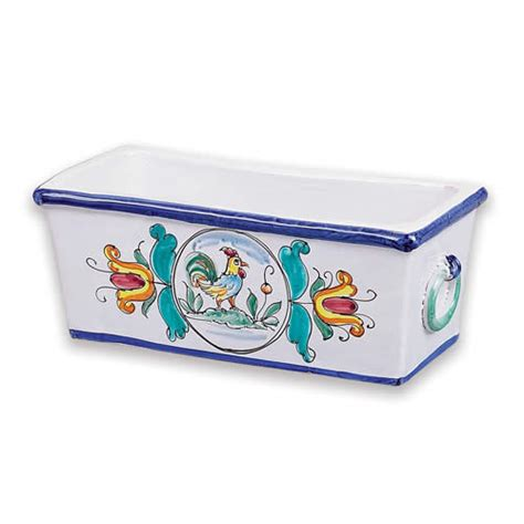 Small Rectangular Planter by Small Rectangular Planter Italian Pottery Outlet