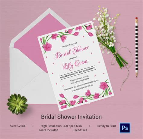 shower invitation template 25 bridal shower invitations templates psd invitations