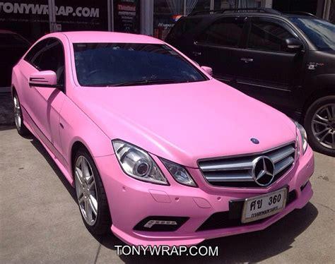 light pink mercedes tony wrap car ฟ ล มเปล ยนส รถ wrapรถ car wrap ราคาพ เศษ